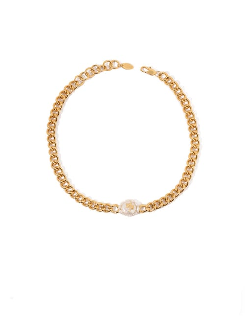 Gold (natural pearls, surface properties Brass Freshwater Pearl Geometric Vintage Necklace