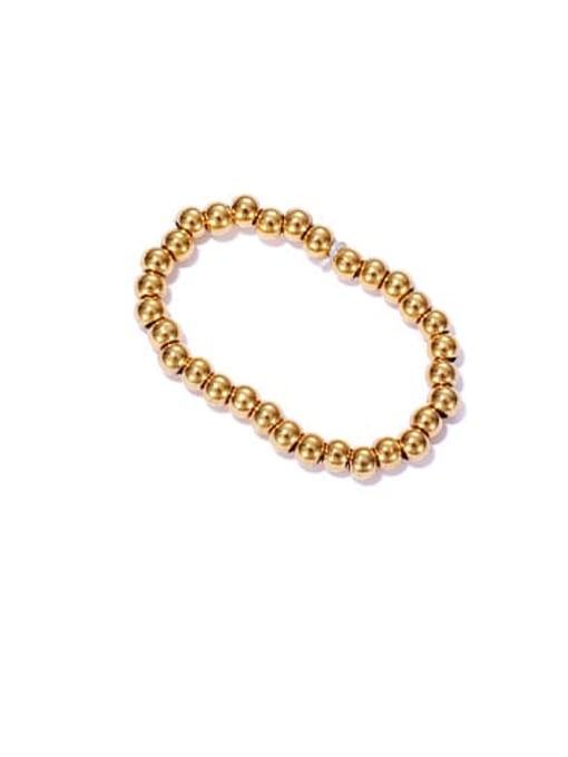 ACCA Brass Bead Round Minimalist Band Ring 3