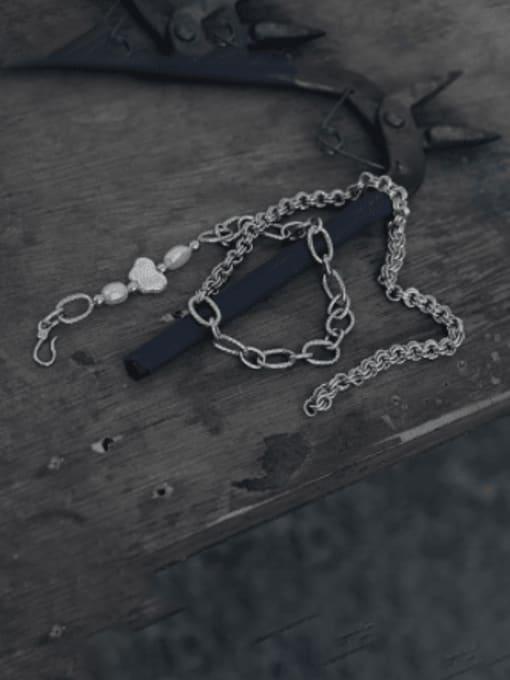 TINGS Brass Asymmetry Irregular Minimalist Necklace 1