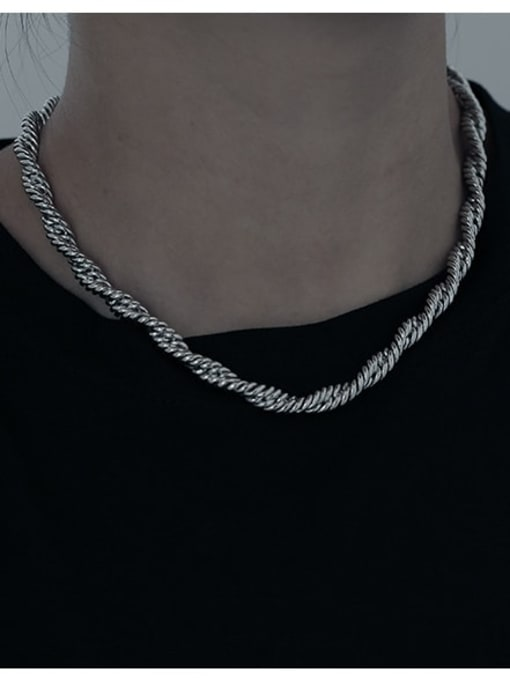 TINGS Brass Hemp rope twist chain Hip Hop Necklace 1