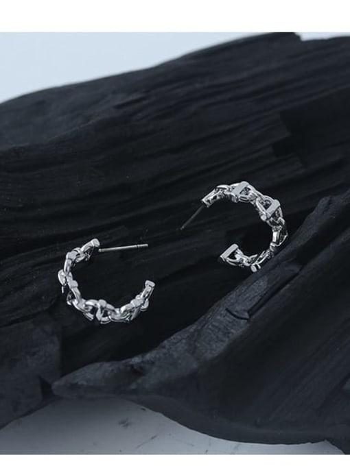 TINGS Brass  Hollow Geometric Vintage Stud Earring 3