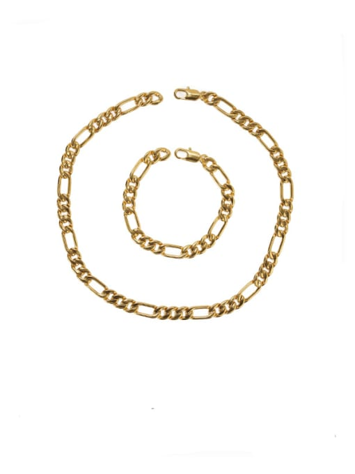 ACCA Brass Geometric Vintage Hollow chain Choker Necklace 0