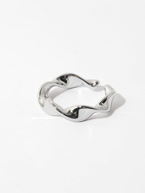 Twist ring (not adjustable) Brass Smooth Irregular Minimalist Band Ring