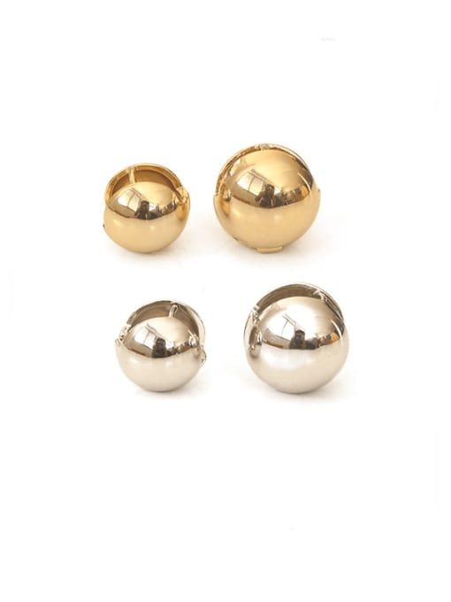 ACCA Brass Smooth Bead Ball Vintage Stud Earring 0