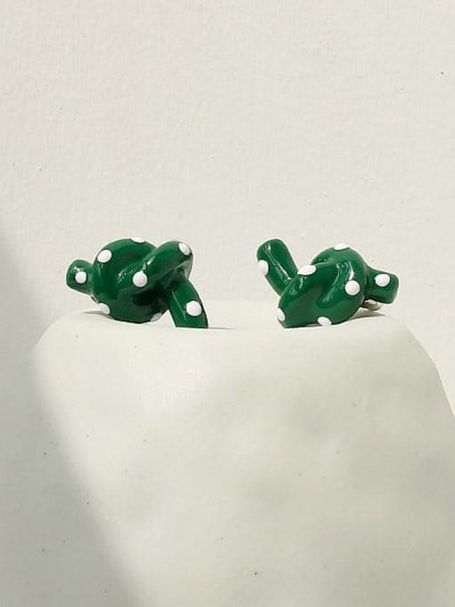 ACCA Zinc Alloy Enamel Vintage Kont  Stud Earring 2
