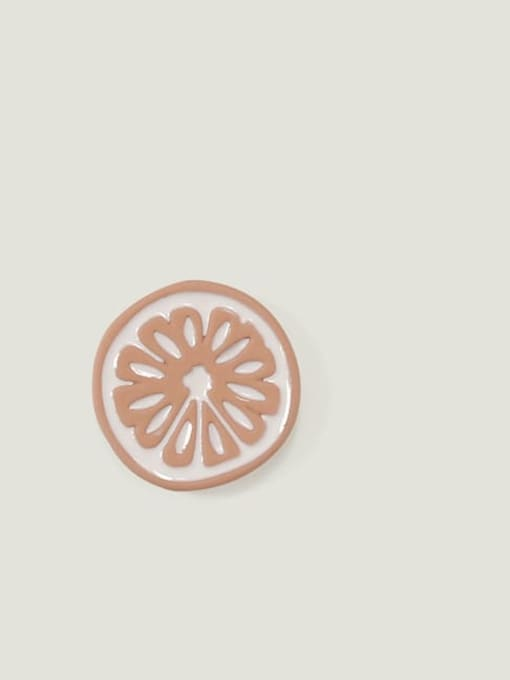 Pink circle Alloy Enamel Friut Cute Stud Earring