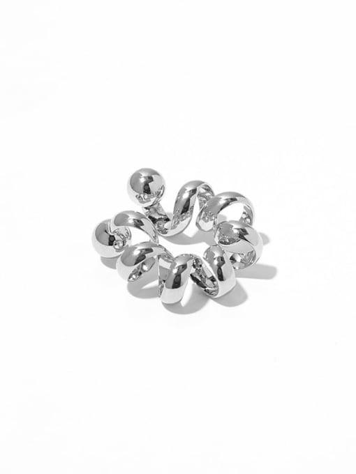 steel (Single ) Brass Geometric Hip Hop Single Earring
