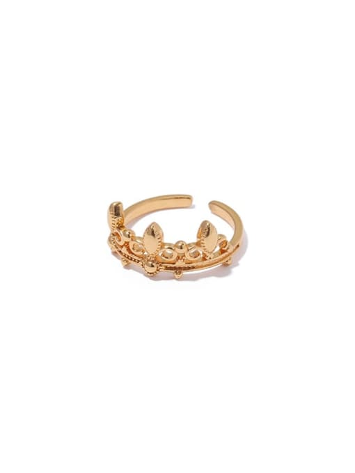 4 (adjustable opening) Brass Hollow Geometric Vintage Band Ring