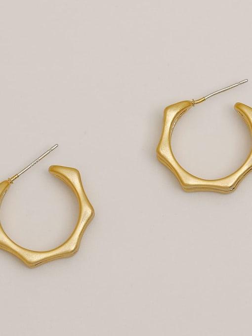 Dumb gold Brass Geometric Vintage Stud Earring