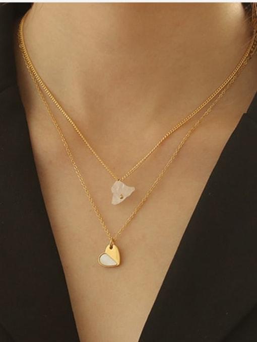 ACCA Titanium Shell Heart Minimalist Necklace 1