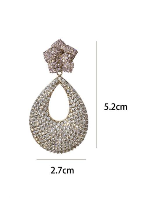 SUUTO Brass Cubic Zirconia Water Drop Bohemia Drop Earring 2