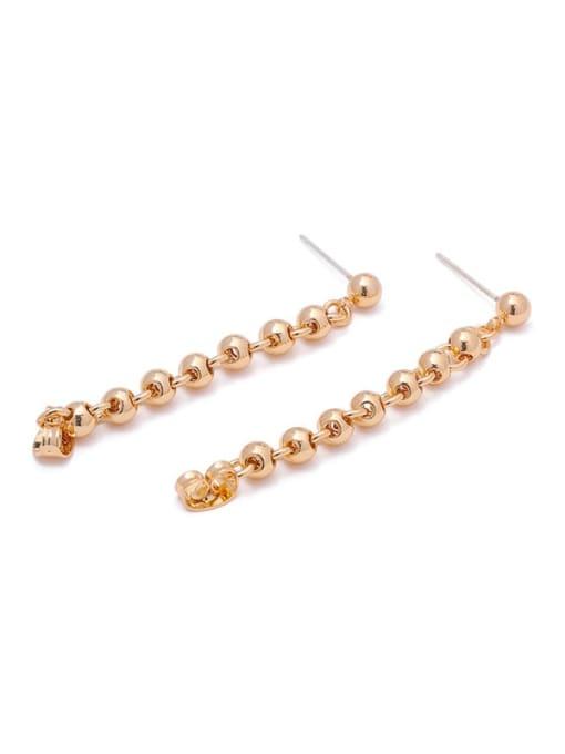 ACCA Brass Bead Tassel Vintage Drop Earring 0