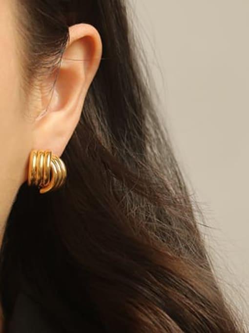 ACCA Brass Irregular Minimalist Stud Earring 1