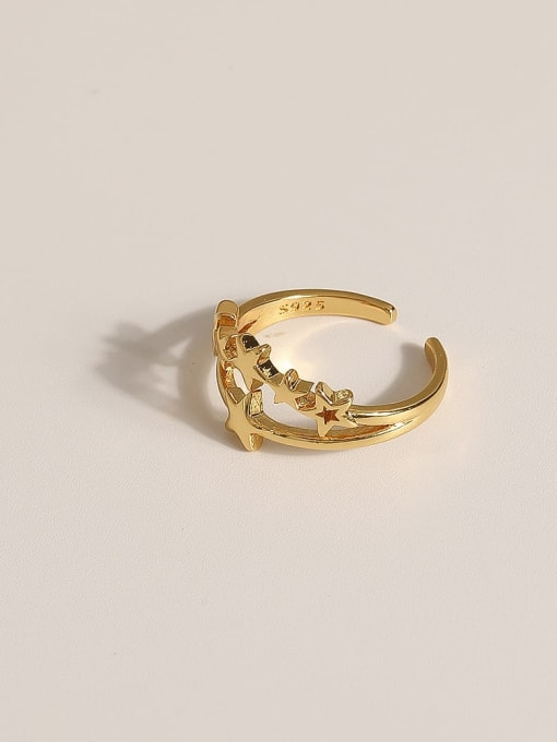 JZ091 Brass Geometric Vintage Band Ring