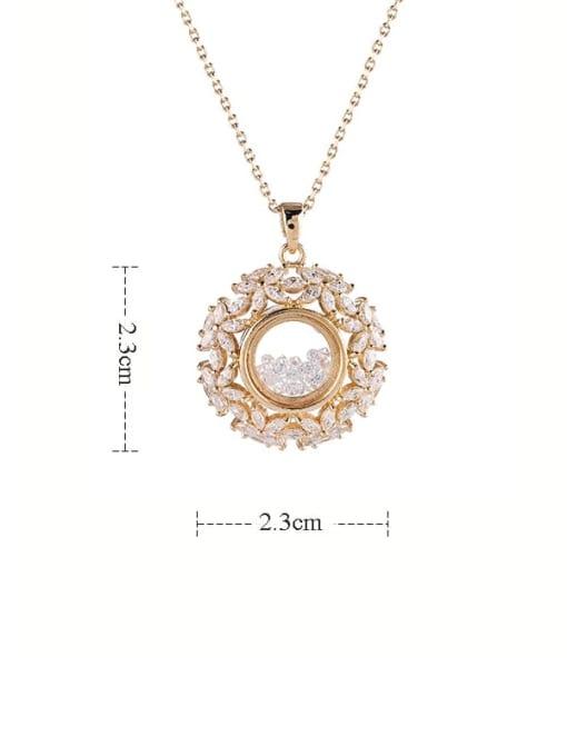 YILLIN Brass Cubic Zirconia Flower Minimalist Necklace 4