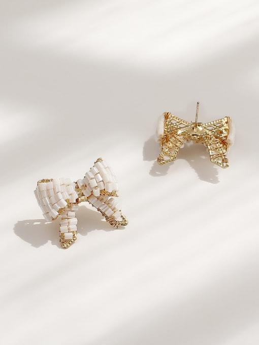 HYACINTH Brass Butterfly Vintage Stud Earring 2