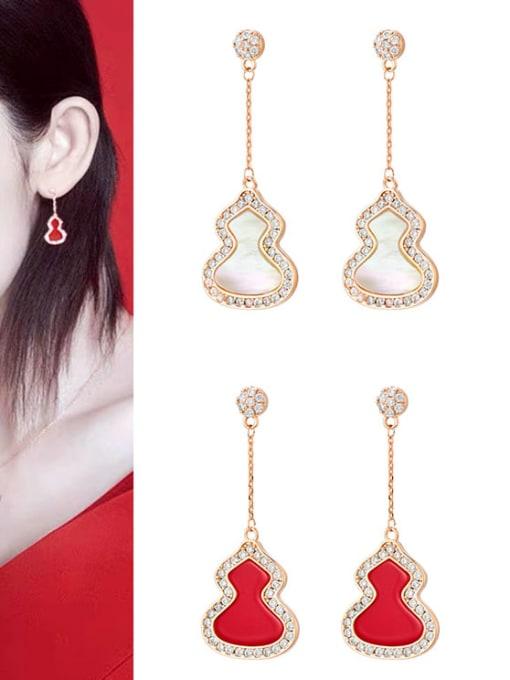 OUOU Brass Enamel Irregular Minimalist Threader Earring 1