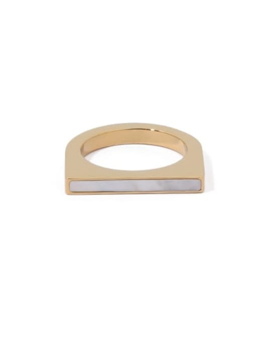 golden Brass Geometric Vintage Band Ring