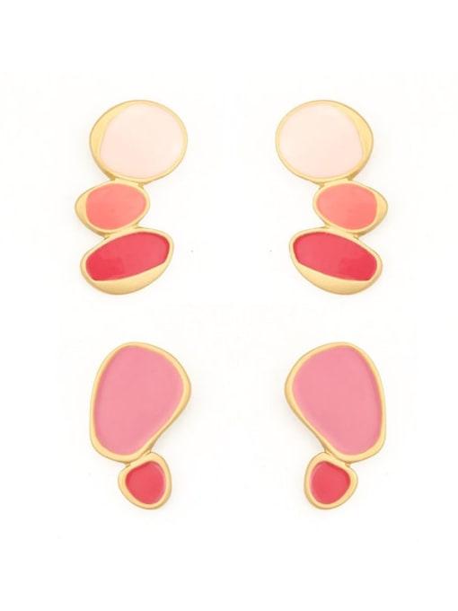 Five Color Alloy Enamel Geometric Cute Single Earring 2