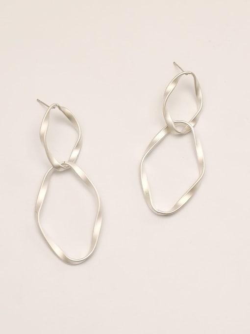 HYACINTH Brass Geometric Minimalist Drop Earring 2