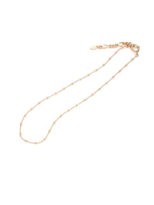 Five Color Brass Irregular Line Minimalist Necklace