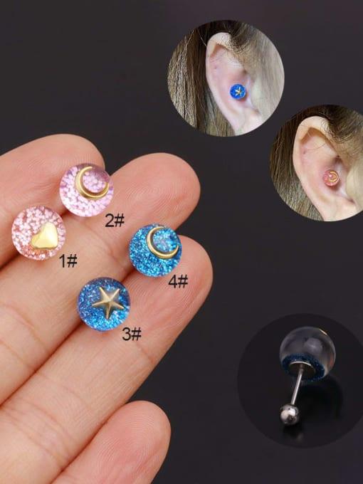HISON Stainless steel Geometric Minimalist Stud Earring 0