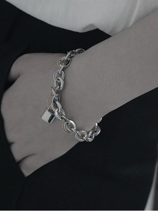 TINGS Brass Geometric Vintage Link Bracelet 1