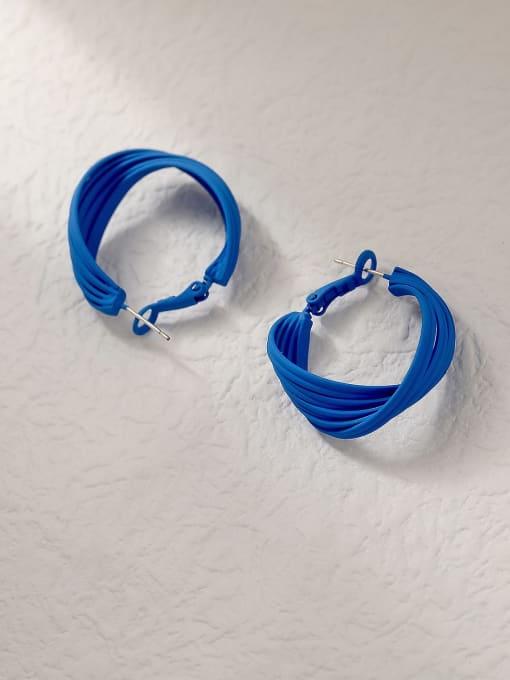 HYACINTH Brass Enamel Geometric Minimalist Hoop Trend Korean Fashion Earring 3