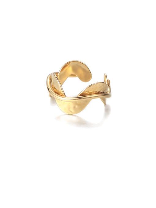 Wavy Ring Brass Irregular Minimalist Band Ring