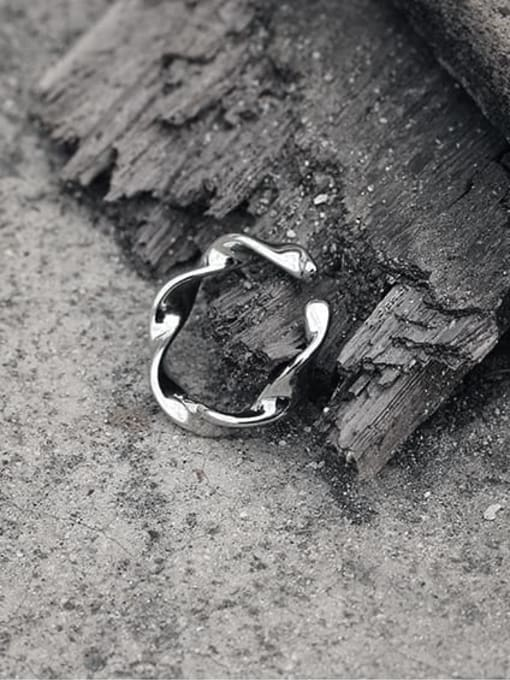TINGS Brass Smooth Irregular Minimalist Band Ring 3