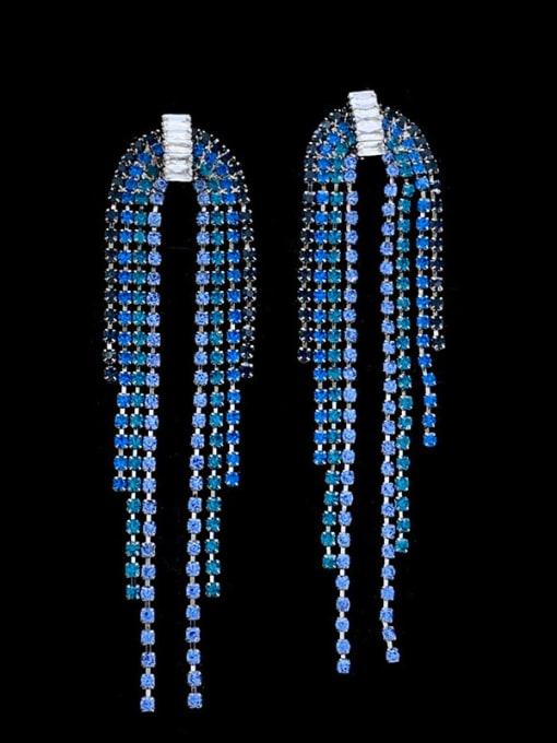 SUUTO Brass Cubic Zirconia Tassel Vintage Drop Earring 1