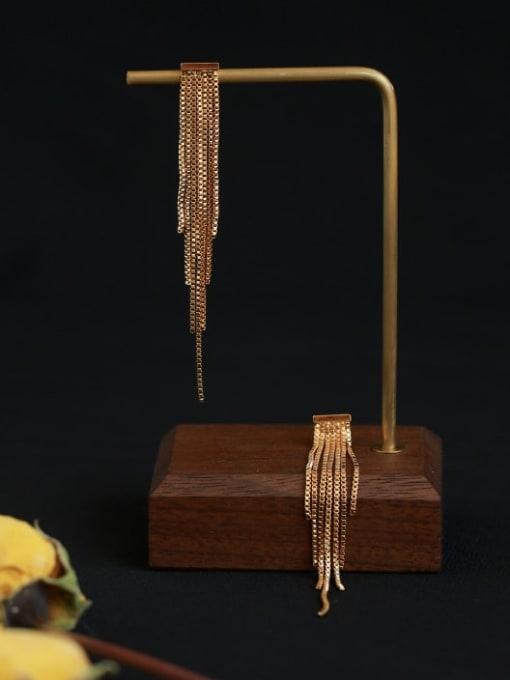 Five Color Brass Tassel Vintage Drop Earring 2