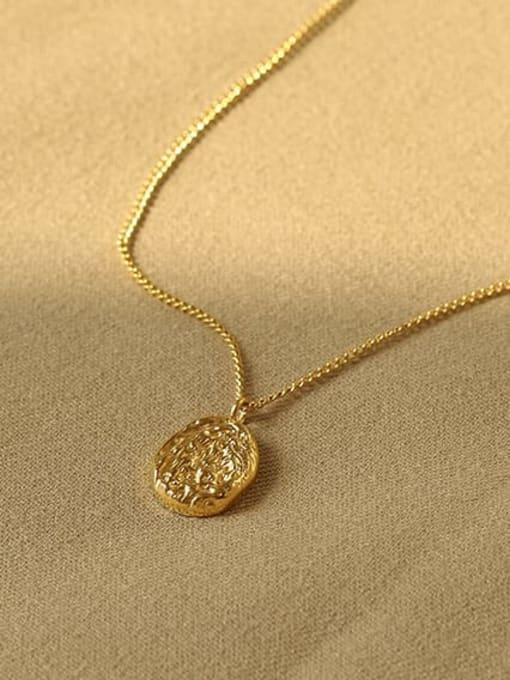 ACCA Titanium Geometric concave Vintage pendant Necklace 2