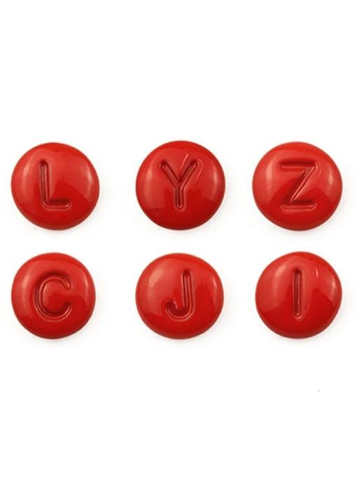 Five Color Alloy Enamel Letter Minimalist Stud Earring 2