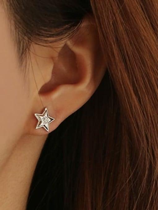 ACCA Brass Star Minimalist Stud Earring 1