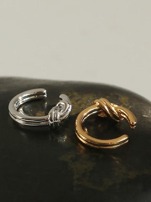 TINGS Brass Line knot Vintage Single Earring 4