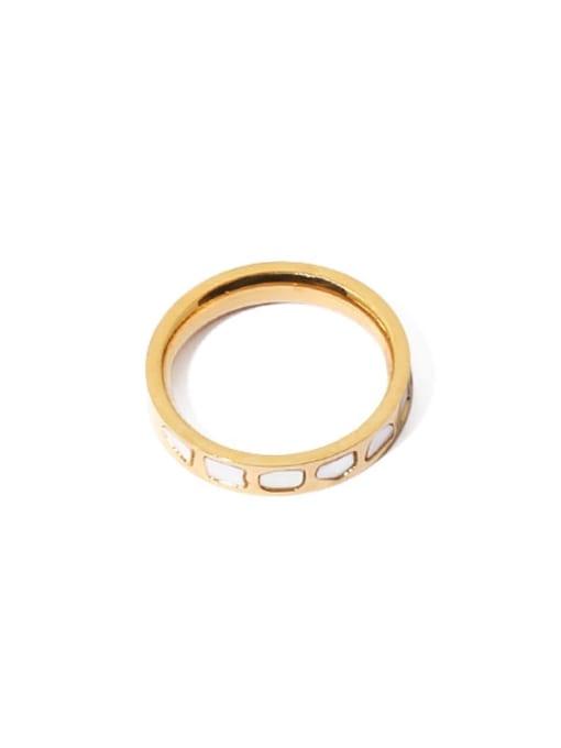 golden Brass Shell Irregular Vintage Band Ring
