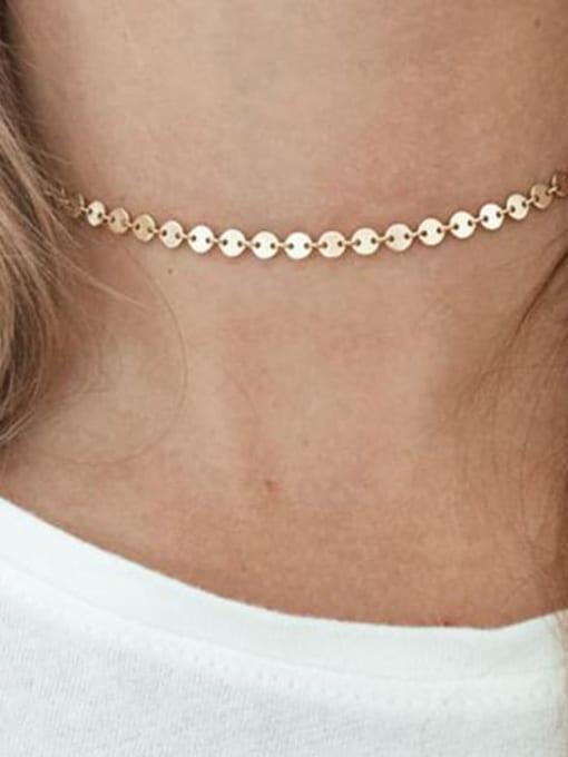 Desoto Titanium Steel Round Chain Minimalist Multi Strand Necklace 4