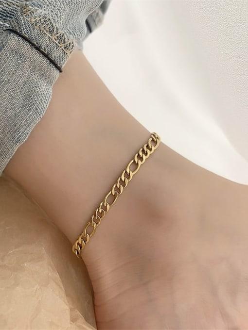 Desoto Stainless steel Irregular Minimalist Hollow Chain  Anklet 3