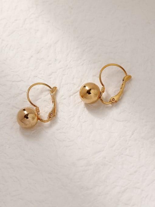 HYACINTH Brass Ball Vintage Hook Trend Korean Fashion Earring 2