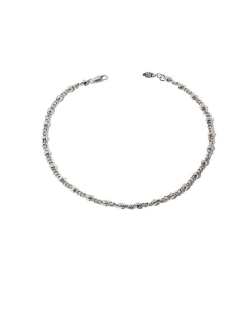 Platinum Brass Geometric Hip Hop Necklace