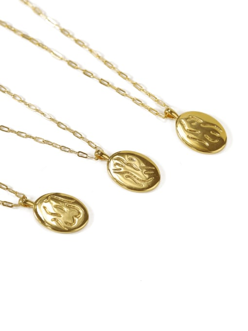 ACCA Brass Geometric Vintage Fashion abstract Human body Pendant Necklace 3