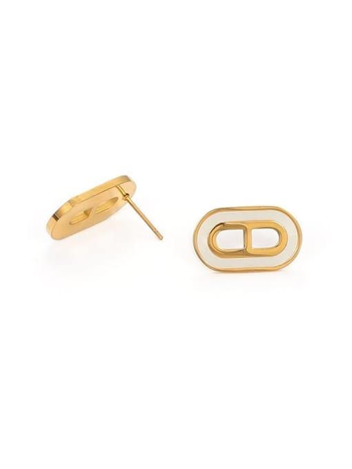 Shell Earrings Brass Shell Geometric Vintage Stud Earring