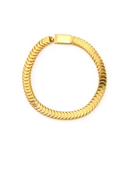 ACCA Brass Geometric Vintage Bracelet