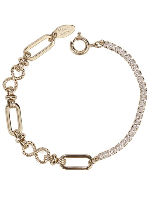 ACCA Brass Cubic Zirconia Geometric Vintage Bracelet 2