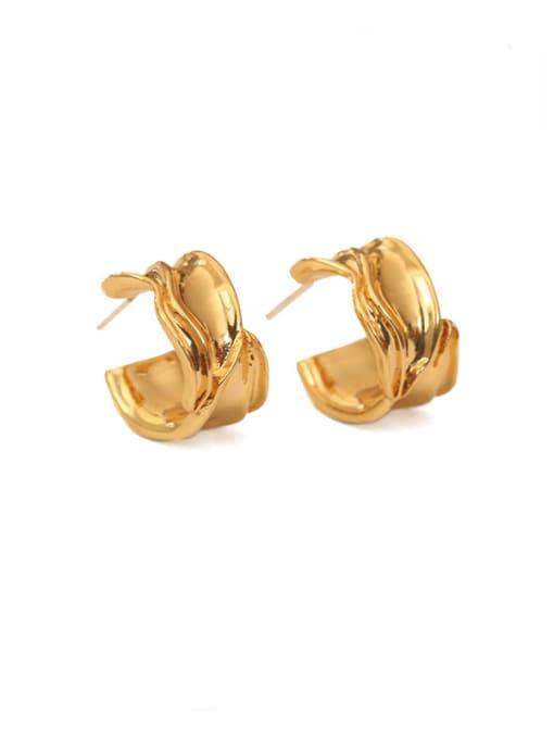 ACCA Brass Irregular Vintage Stud Earring 0