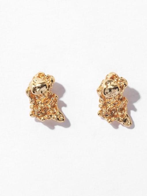 Irregular ball stud Brass Irregular Vintage Stud Earring