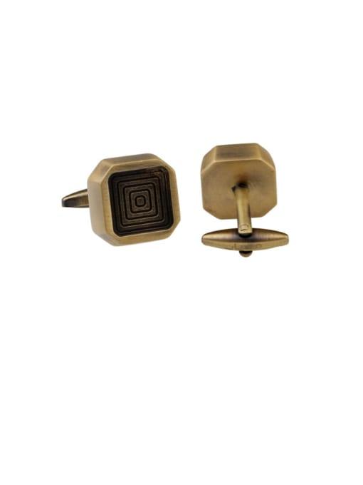 Camel color Brass Square Vintage Cuff Link