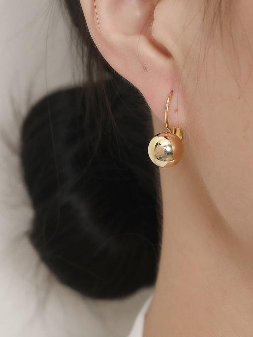 HYACINTH Brass Ball Vintage Hook Trend Korean Fashion Earring 1