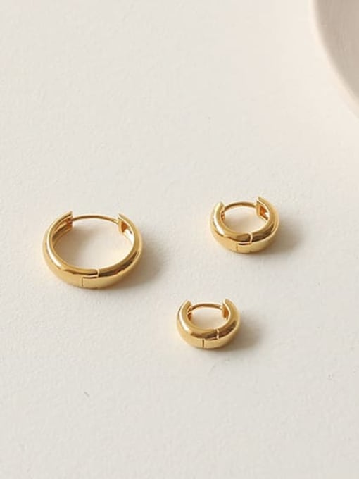 ACCA Brass Round Minimalist Huggie Earring(ONLY ONE PCS) 3